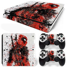 PS4 Slim Console and DualShock 4 Controller Skin Set - Deadpool Fade