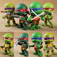 Set 4p Japan Anime Teenage Mutant Ninja Turtles TMNT Action Figure Figurine 6cm