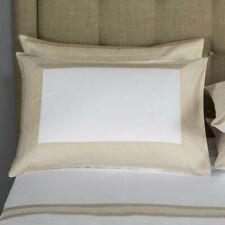 $1275 Frette Hotel Porto Queen Duvet SET Sheet Shams Embroidery Sandstone Italy