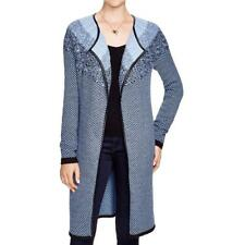 Nic + Zoe 4337 Womens Blue Houndstooth Cable Knit Duster Sweater Jacket XL BHFO