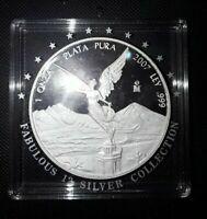 Mexico 1 onza 2007 Libertad Liberty KM#639 Silver Proof free ship 11-10