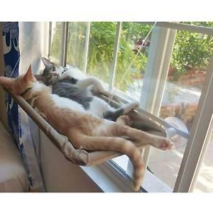 Pet Kitty High Hammock Window Perch Bed Hanging Shelf Cat Perch Seat Sucker