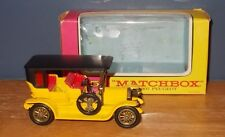 Matchbox Yesteryear Y5 Peugeot Yellow & Black No Front Seat Bead Issue 1