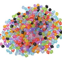 5000 Mix Doppelkegel Perlen Bicone Rhomben Facettiert Beads Acrylperlen 6x6mm LP