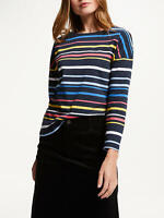New John Lewis Weekend Stripe Long Sleeve Top, Multi, UK 12, RRP £35