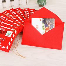 Christmas Red Envelope Card Gift Bag Ornaments Snowman Xmas Tree Hanging Decor