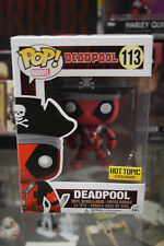 Funko Pop! Marvel Deadpool PIrate Hot Topic Exclusive #113 With Soft Protector