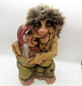 "Original Norwegian NyFORM TROLL Loving Couple Figurine Doll 10"""
