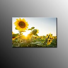 FRAMED Large Canvas Print  Beautiful Oil Painting of Sunflowers Wall Art Picture