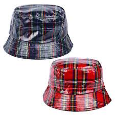 Adults Tartan Bucket Rain Hat