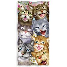 Cats Selfie Cotton Beach & Shower Towel