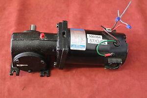 Leeson CM34D25NZ9B Gear Motor 1/8HP 90V 500RPM Fame 34 Used