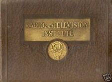 Radio & Television Institute Radio Service Manuals * CDROM * PDF