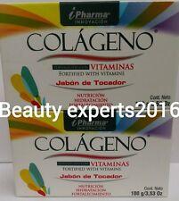 2 Pack!! COLAGENO SOAP/JABON DE COLAGENO i pharma(2 soaps)