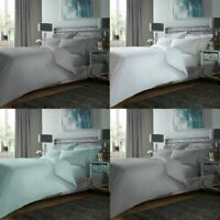 Luxury 400TC Duvet Cover Set 100% Egyptian Cotton Plain Dyed Pillowcase Bedding