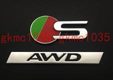 3D S+AWD Fender Rear Truck Boot Emblem Badge Sticker For Jaguar XF XE XJL F-PACE