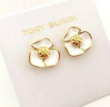 e07037787b2 Tory Burch Enamel Flower Logo Earrings Studs New on Card & Dust BAG