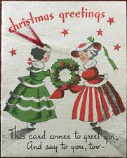 Christmas Greetings Vintage Textured Norcross New York Christmas Card