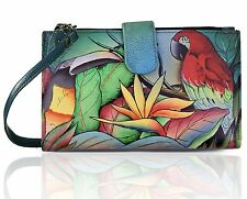 Anuschka, Hand-Painted Leather, Smart Phone Case & Wallet- Tropical Bliss