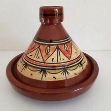 Plat a tajine tagine Marocain b6 cuisson terre cuite émaillé 30cm 5/6 personnes