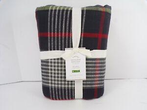 Pottery Barn Carson Plaid Cotton Duvet Cover Full Queen #7451