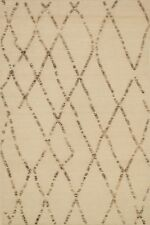 7'x9' Loloi Rug Adler Wool White Sand Hand Woven Transitional AW-02