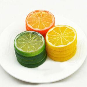 Artificial Lemon Slices Lifelike Plastic Fake Fruit Home Wobble Plate Decor Prop