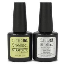 CND Shellac Duraforce Top Coat 15ml/ Base Coat 12,5ml esmalte de uñas de gel