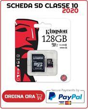 MICRO SD SDCS 4 8 16 32 64 128 GB KINGSTOM ALTRO SCHEDA MEMORIA CARD CLASSE 10