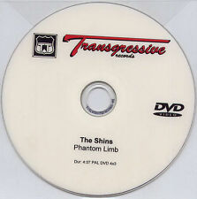 THE SHINS Phantom Limb 2007 UK 1-track promo test PAL DVD