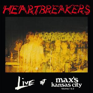 HEARTBREAKERS 'Live at Max's Kansas City Vols 1 & 2' CD Johnny Thunders NYC punk
