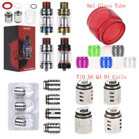 3pcs Coil Head Q4 M4 X6 T10 Replacement Core Coils Glass Tube for TFV12 Prince