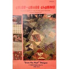 Charm Pack Quilt Pattern Criss Cross Charms Robin Ibarra From the Nest Designs
