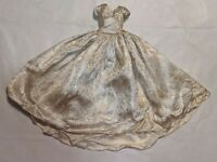 """MADAME ALEXANDER CISSY 20"""" Doll GOLD DRESS GOWN Skirt Tag VTG RARE 1950s Queen"""