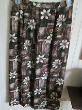 JACLYN SMITH LADIES SIZE L LONG SKIRT BROWN FLORAL