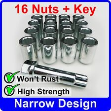 16 x SLIM THIN NARROW TUNER NUTS FOR TOYOTA WITH AFTER-MARKET ALLOY WHEELS [TN4]
