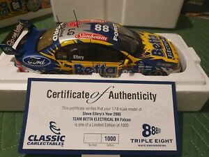 Classic Carlectables Steve Ellery Betta Electrical 2005 V8 Supercar 1:18