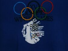 Adidas Mens XL Sweatshirt VNTG Olympics Calgary 1988 Centennial Collection Blue