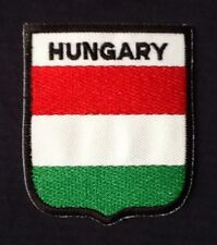 HUNGARY HUNGARIAN NATIONAL COUNTRY FLAG BADGE IRON SEW ON PATCH CREST EURO