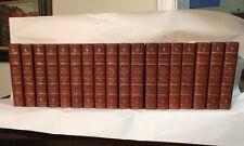 Fine 1/2 leather THE WORKS OF HONORE De BALZAC 18vol. University Ed. Phila, 1901