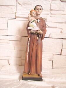 Heiliger Antonius mit Kind 30 cm Religion Kirche Figur Skulptur !!