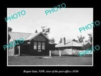 OLD LARGE HISTORIC PHOTO OF BOGAN GATE NSW, VIEW OF THE POST OFFICE c1930