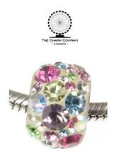 CHARM COMPANY 925 Sterling Silver pastel CRYSTAL SHAMBALLA charm bead