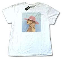 Lady Gaga Pop Joanne Pink Hat Image White T Shirt New Official Soft
