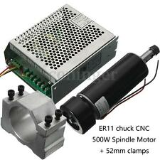 ER11 CNC Spindle Motor 500W Chuck Clamps Speed Governor For PCB Engraving