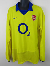 Nike Arsenal Football Shirt 2003-04 Away Soccer Jersey Longsleeve XXL 47/48