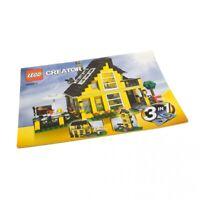 1x Lego Bauanleitung Heft 1 A4 Creator Ferienhaus 3in1 4996