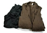 Lot Of 2 Womens Size Large Cardigan Sweaters Long Sleeve Fall Winter Wear