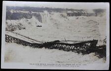1938 RPPC - FALLS VIEW BRIDGE, Niagara Falls Collapsed -Toronto Evening Telegram