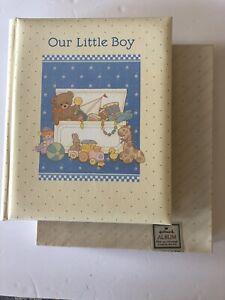 """Vintage Hallmark """"Our Little Boy"""" Album Baby Keepsake Book Scrapbook New In Box"""